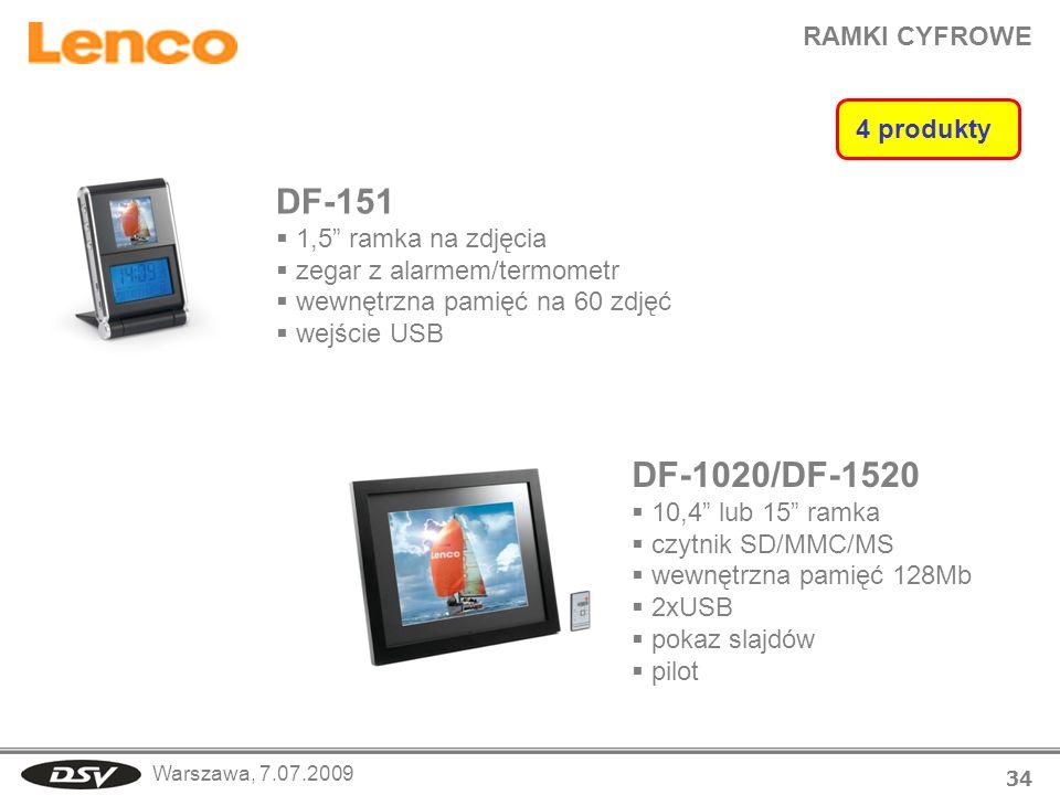DF-151 DF-1020/DF-1520 RAMKI CYFROWE 4 produkty 1,5 ramka na zdjęcia
