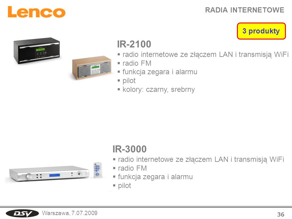 IR-2100 IR-3000 RADIA INTERNETOWE 3 produkty