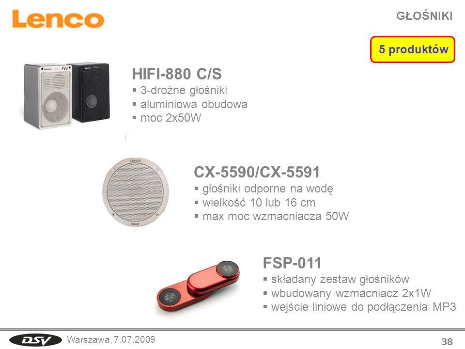 HIFI-880 C/S CX-5590/CX-5591 FSP-011 GŁOŚNIKI 5 produktów