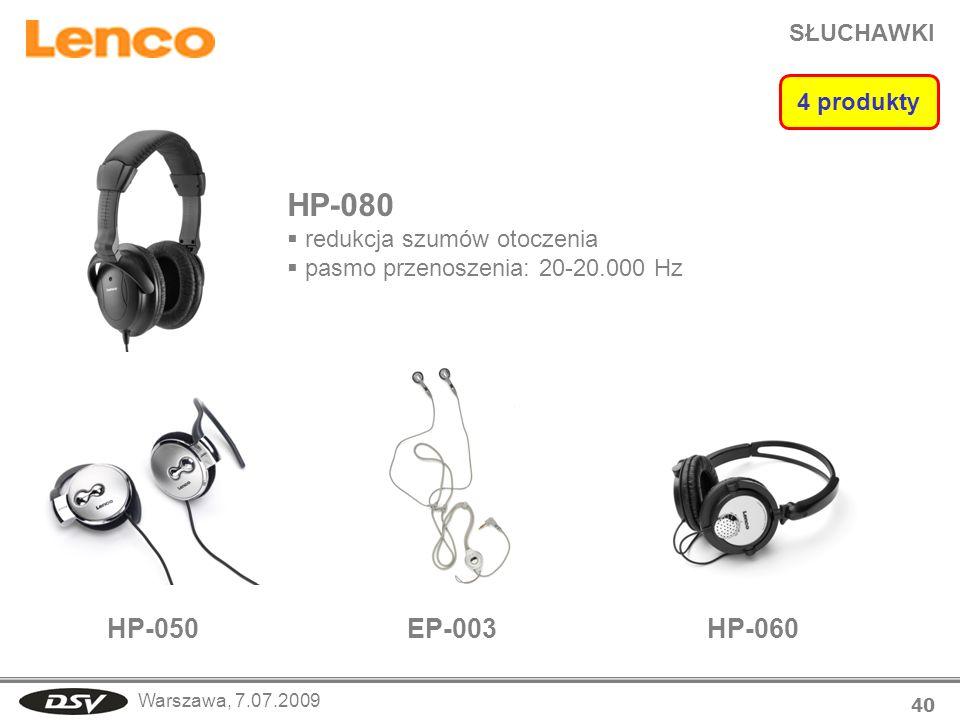 HP-080 HP-050 EP-003 HP-060 SŁUCHAWKI 4 produkty