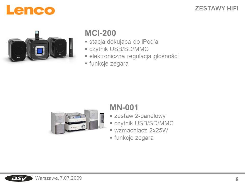 MCI-200 MN-001 ZESTAWY HIFI stacja dokująca do iPod'a