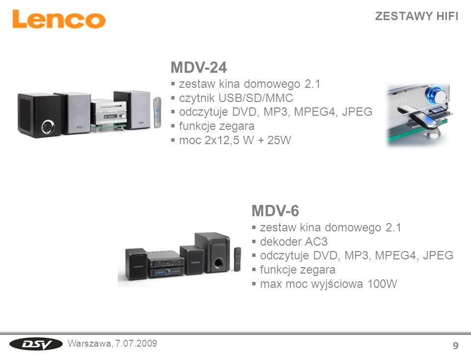 MDV-24 MDV-6 ZESTAWY HIFI zestaw kina domowego 2.1 czytnik USB/SD/MMC