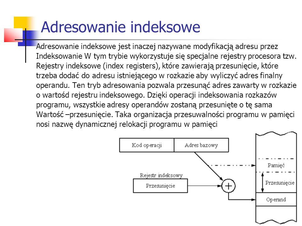 Adresowanie indeksowe