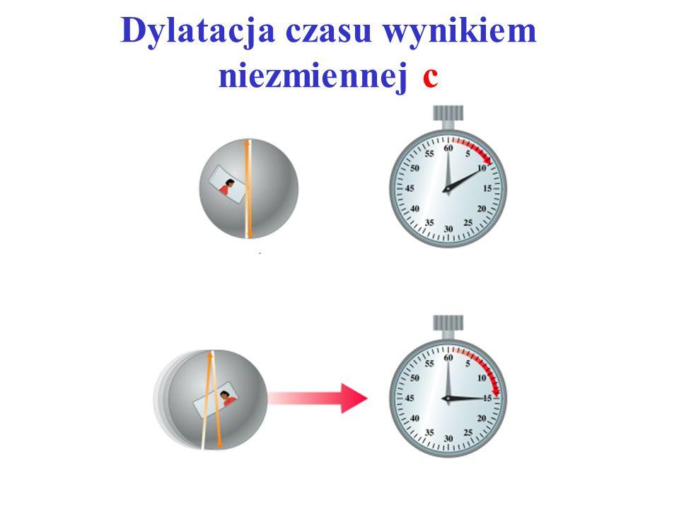 Dylatacja czasu wynikiem niezmiennej c