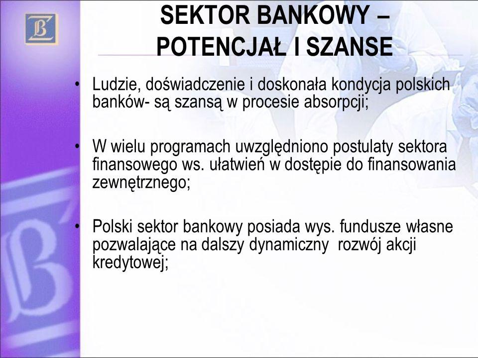 SEKTOR BANKOWY – POTENCJAŁ I SZANSE