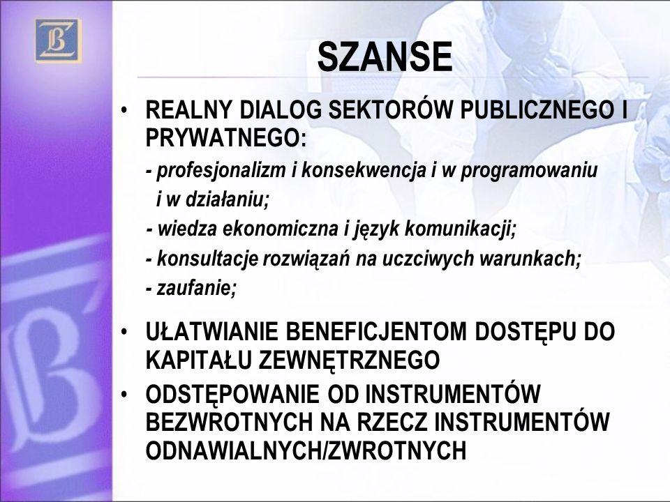 SZANSE REALNY DIALOG SEKTORÓW PUBLICZNEGO I PRYWATNEGO: