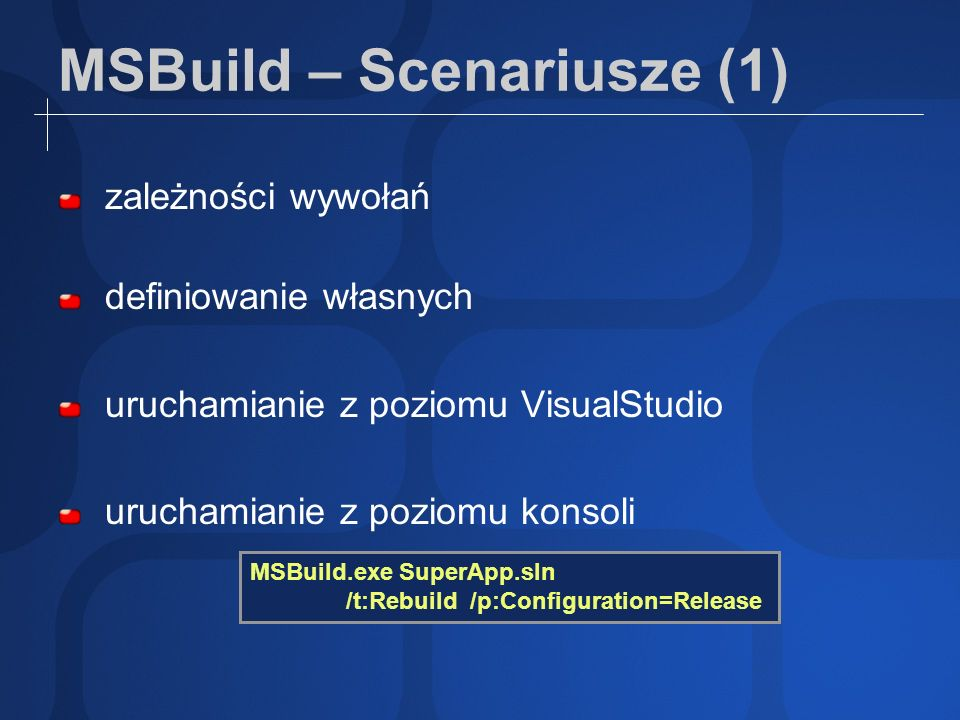 MSBuild – Scenariusze (1)