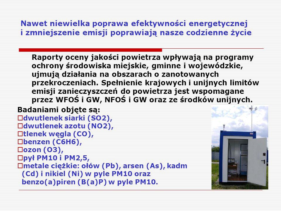Nawet niewielka poprawa efektywności energetycznej i zmniejszenie emisji poprawiają nasze codzienne życie