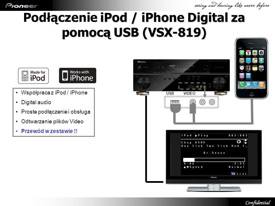 Podłączenie iPod / iPhone Digital za pomocą USB (VSX-819)