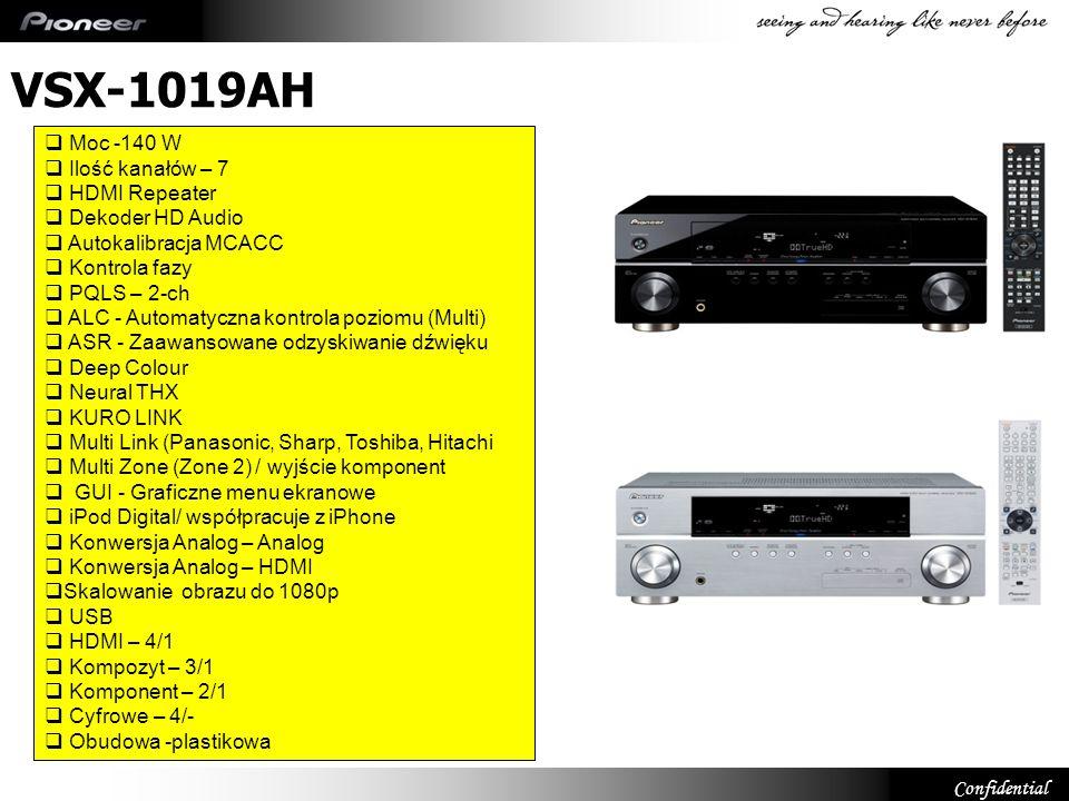 VSX-1019AH Moc -140 W Ilość kanałów – 7 HDMI Repeater Dekoder HD Audio