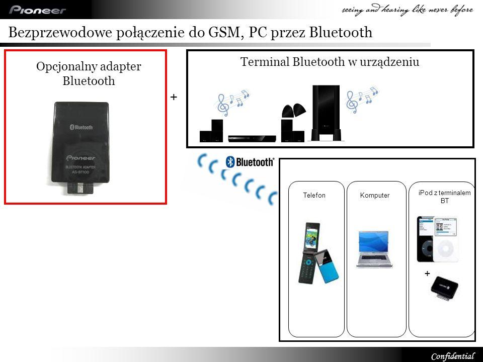Bezprzewodowe połączenie do GSM, PC przez Bluetooth