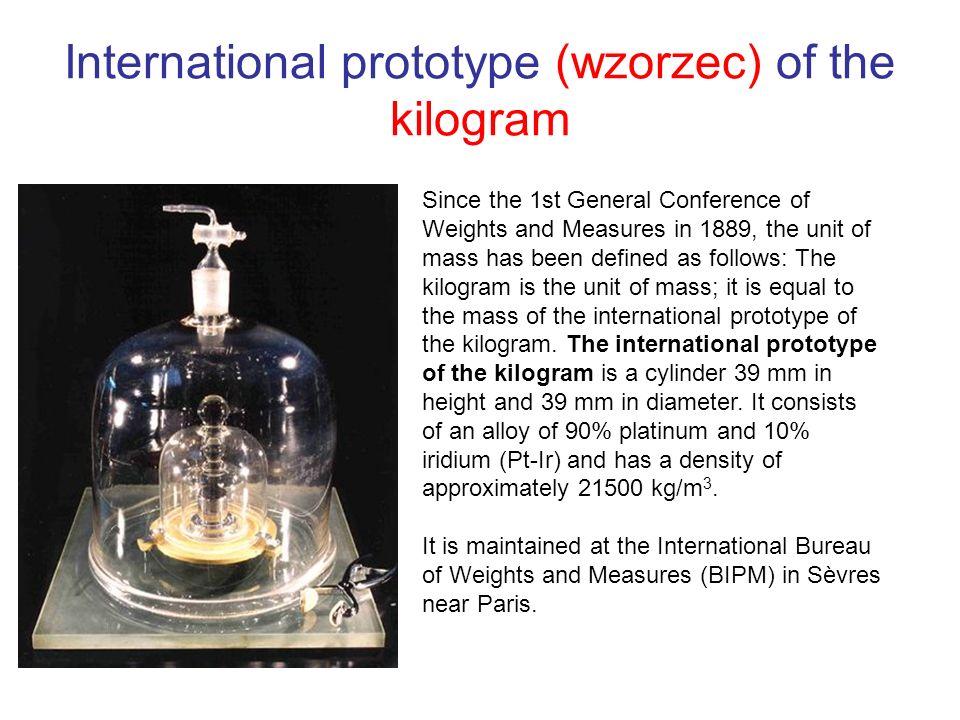 International prototype (wzorzec) of the kilogram
