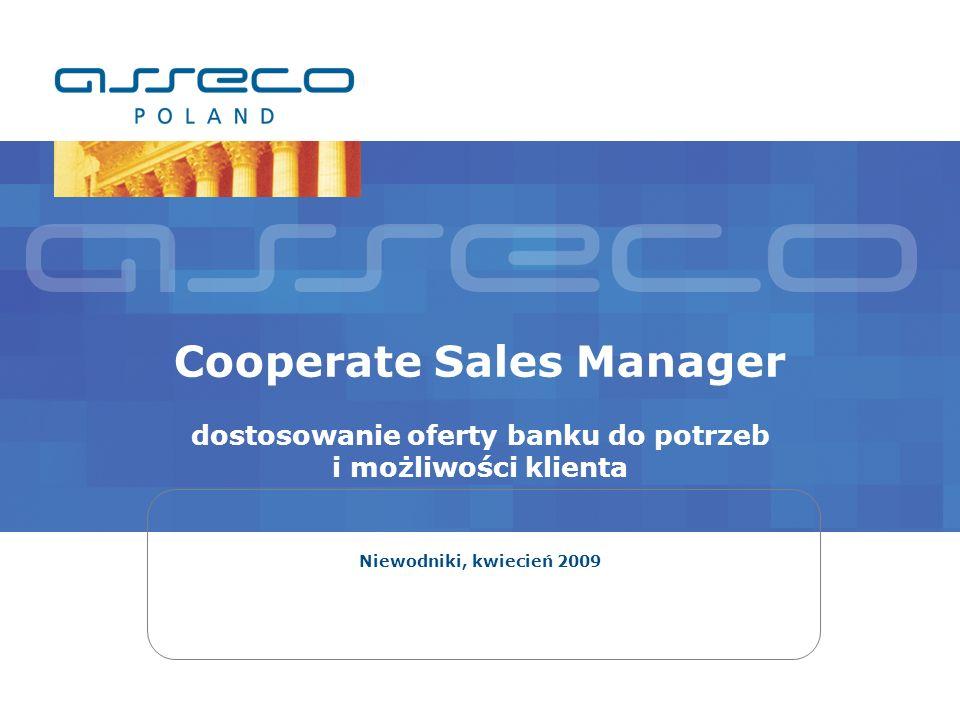 Cooperate Sales Manager dostosowanie oferty banku do potrzeb i możliwości klienta