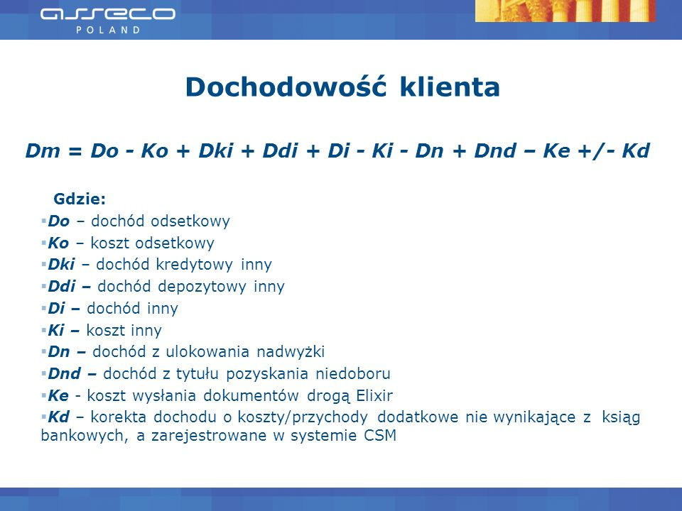 Dm = Do - Ko + Dki + Ddi + Di - Ki - Dn + Dnd – Ke +/- Kd