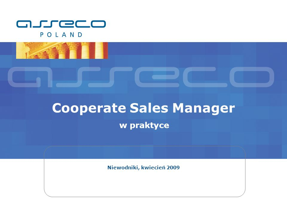 Cooperate Sales Manager w praktyce