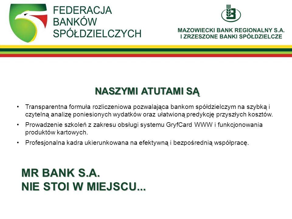 MR BANK S.A. NIE STOI W MIEJSCU... NASZYMI ATUTAMI SĄ