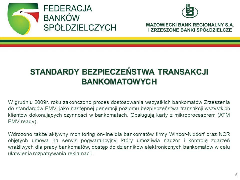 STANDARDY BEZPIECZEŃSTWA TRANSAKCJI BANKOMATOWYCH