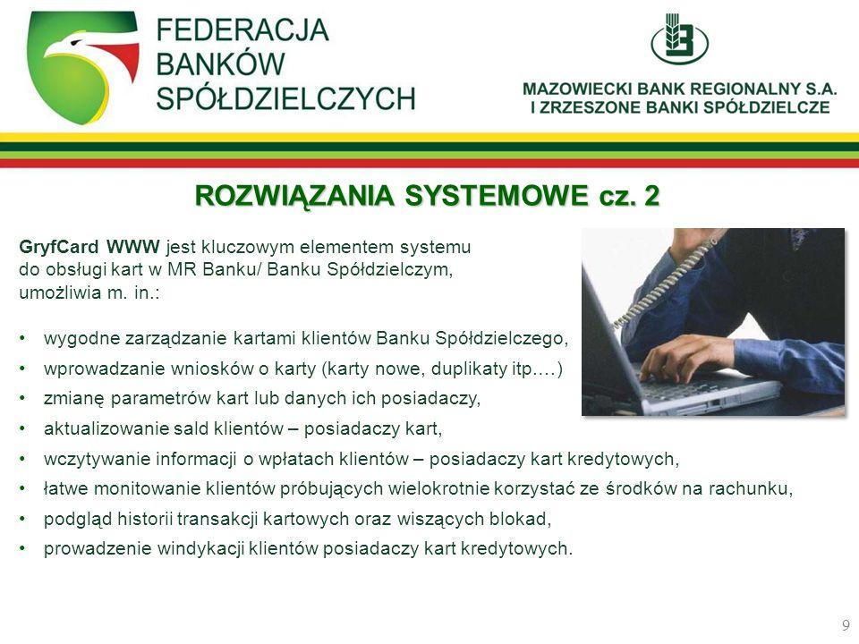 ROZWIĄZANIA SYSTEMOWE cz. 2