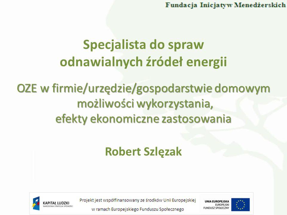 Specjalista do spraw odnawialnych źródeł energii