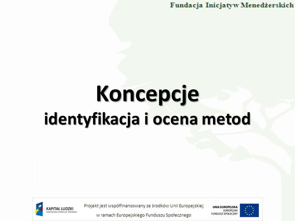 Koncepcje identyfikacja i ocena metod