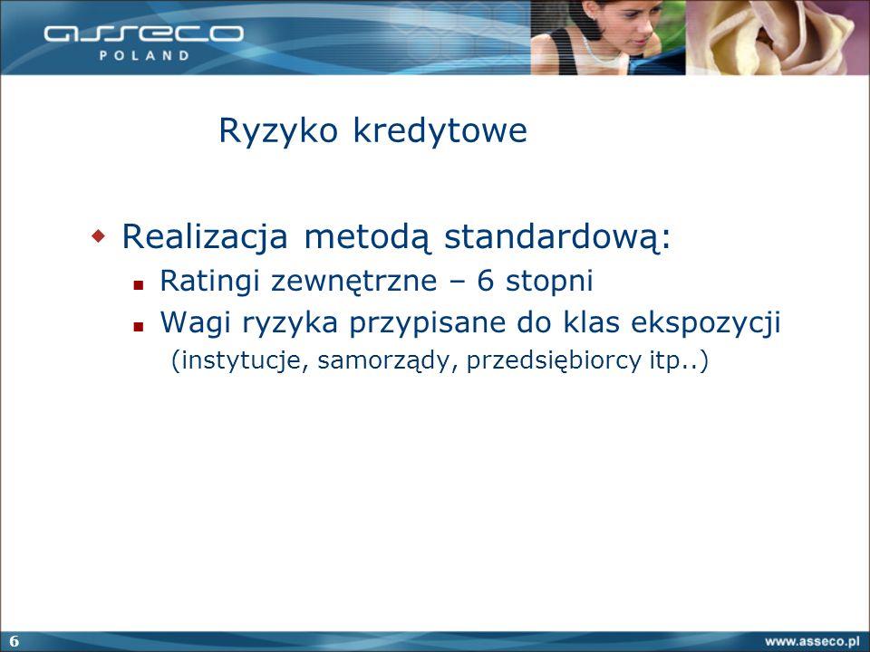 Realizacja metodą standardową: