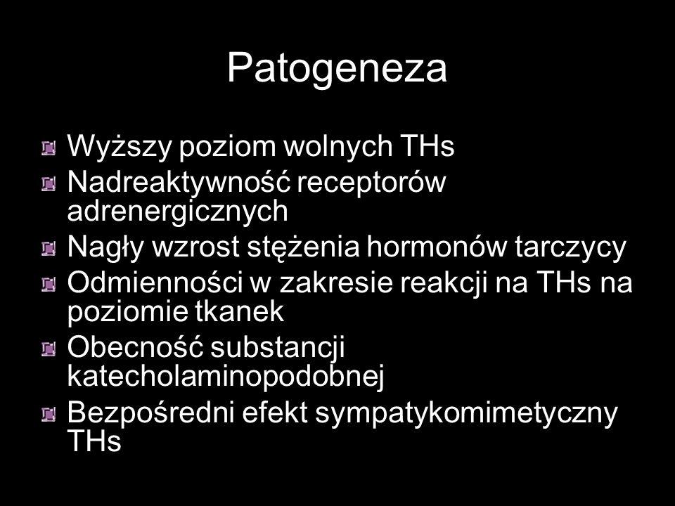 Patogeneza Wyższy poziom wolnych THs