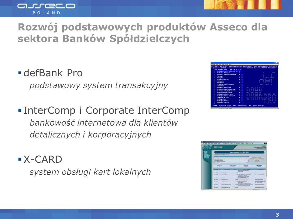 Rozwój podstawowych produktów Asseco dla sektora Banków Spółdzielczych