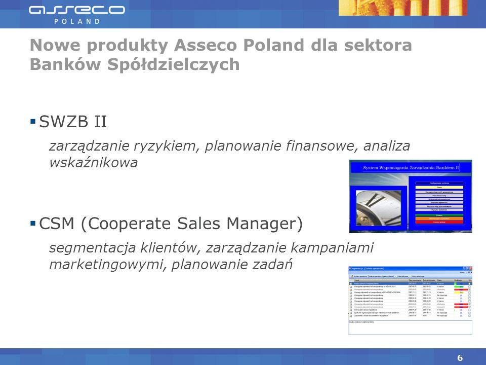 Nowe produkty Asseco Poland dla sektora Banków Spółdzielczych