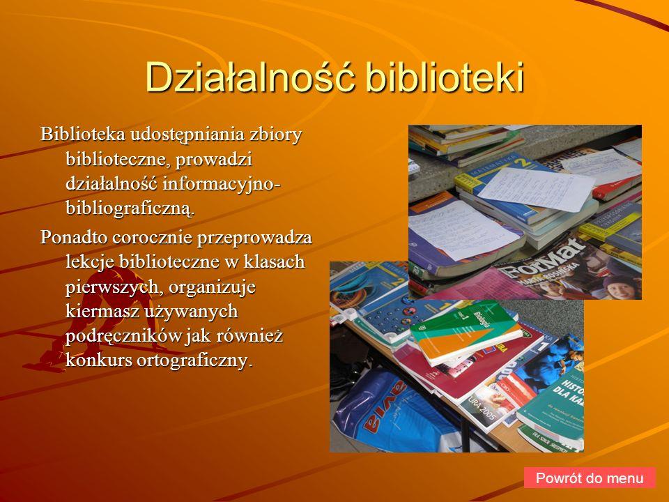 Działalność biblioteki