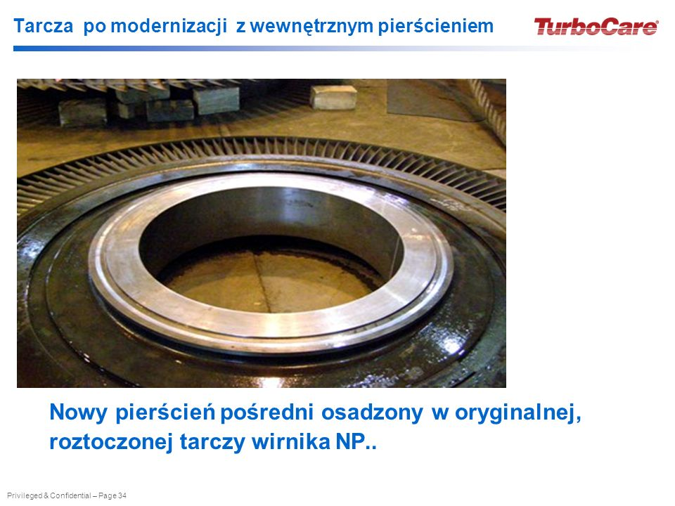 Tarcza po modernizacji z wewnętrznym pierścieniem