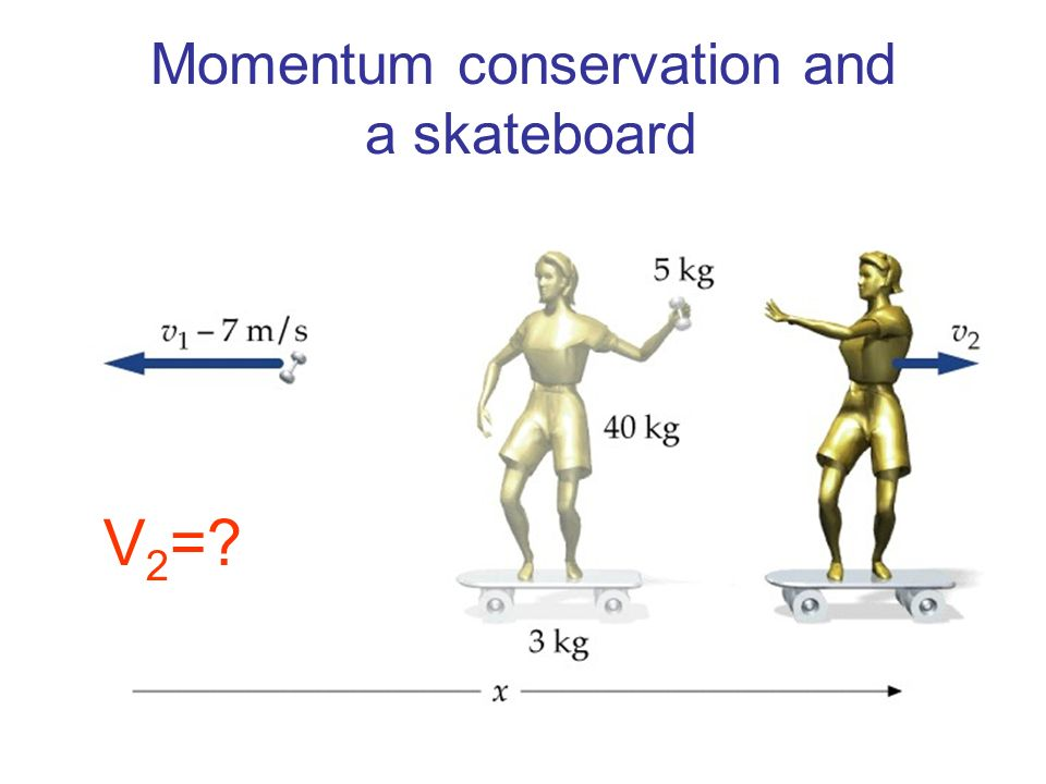 Momentum conservation and a skateboard