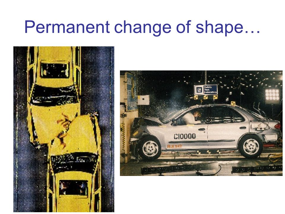 Permanent change of shape…