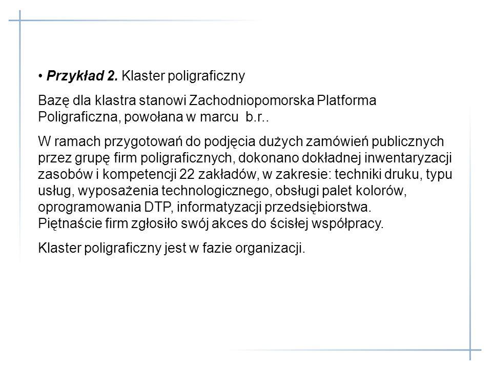 Przykład 2. Klaster poligraficzny