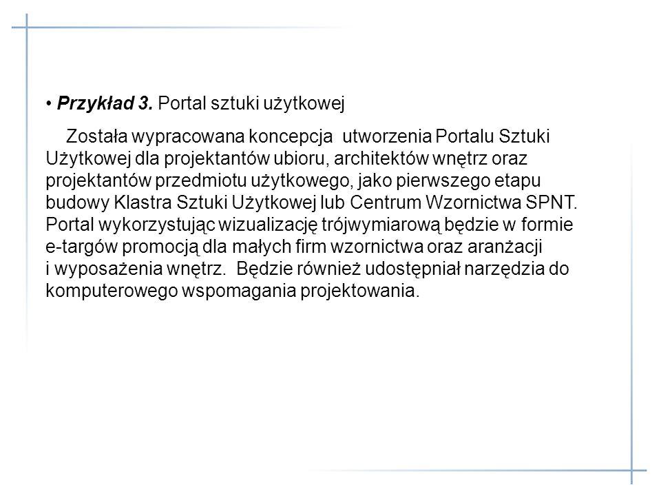 Przykład 3. Portal sztuki użytkowej