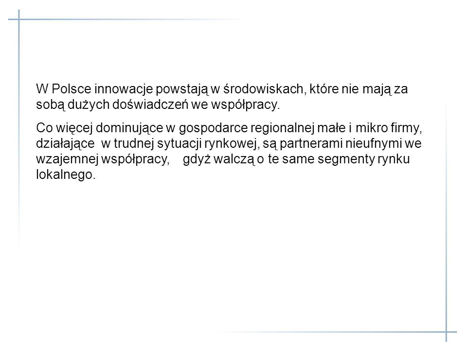 W Polsce innowacje powstają w środowiskach, które nie mają za sobą dużych doświadczeń we współpracy.