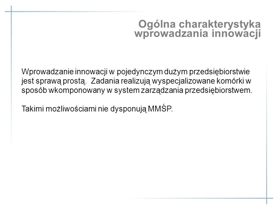 Ogólna charakterystyka wprowadzania innowacji