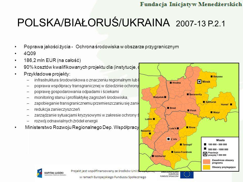 POLSKA/BIAŁORUŚ/UKRAINA 2007-13 P.2.1
