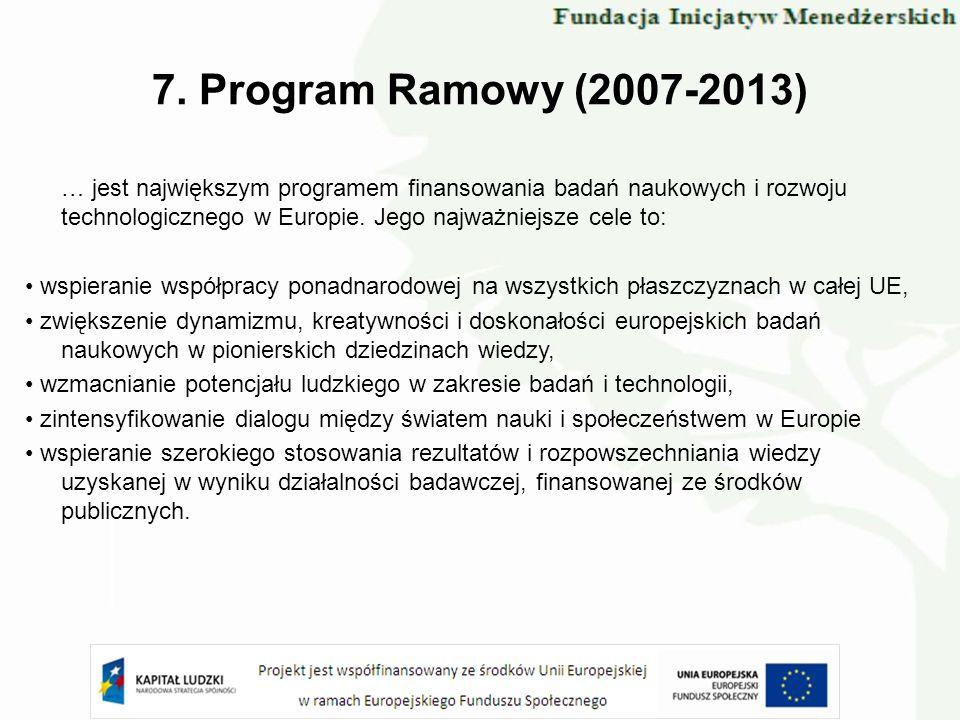 7. Program Ramowy (2007-2013)