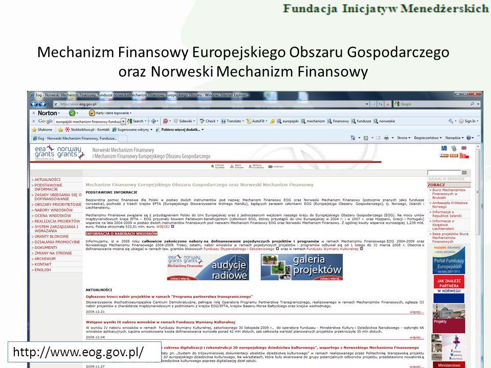 Mechanizm Finansowy Europejskiego Obszaru Gospodarczego oraz Norweski Mechanizm Finansowy