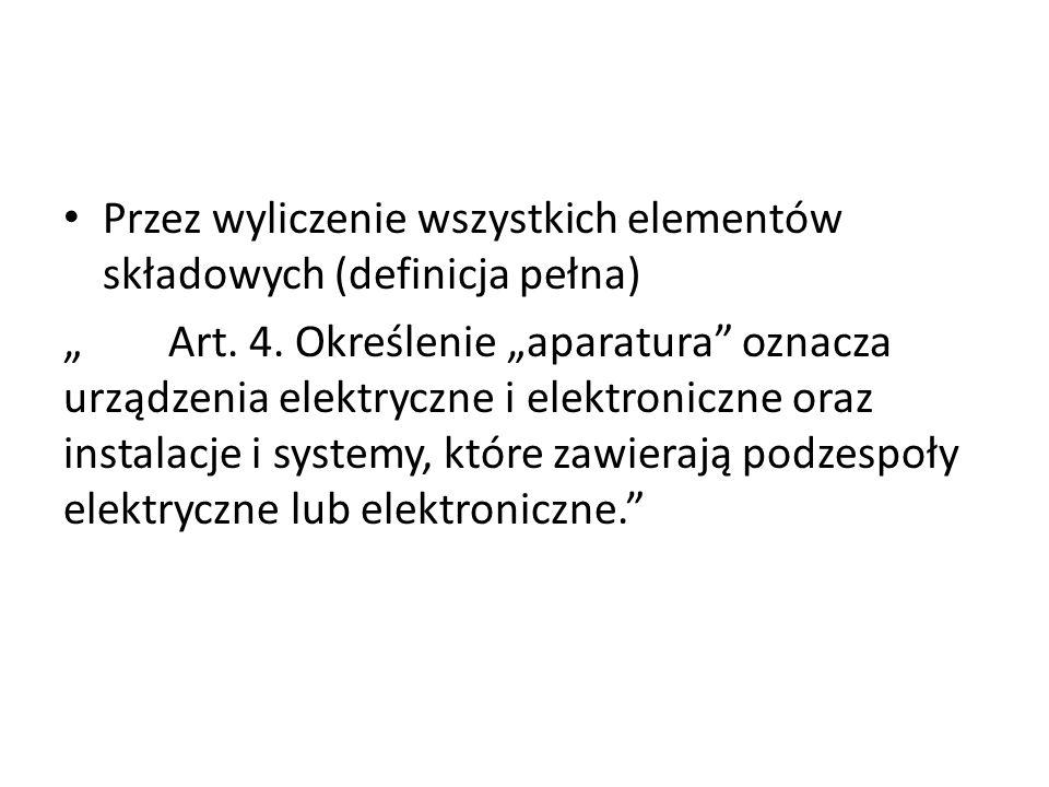Przez wyliczenie wszystkich elementów składowych (definicja pełna)