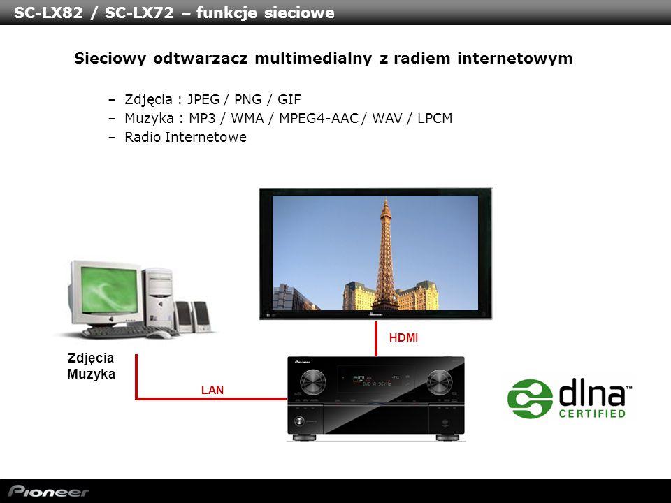 SC-LX82 / SC-LX72 – funkcje sieciowe