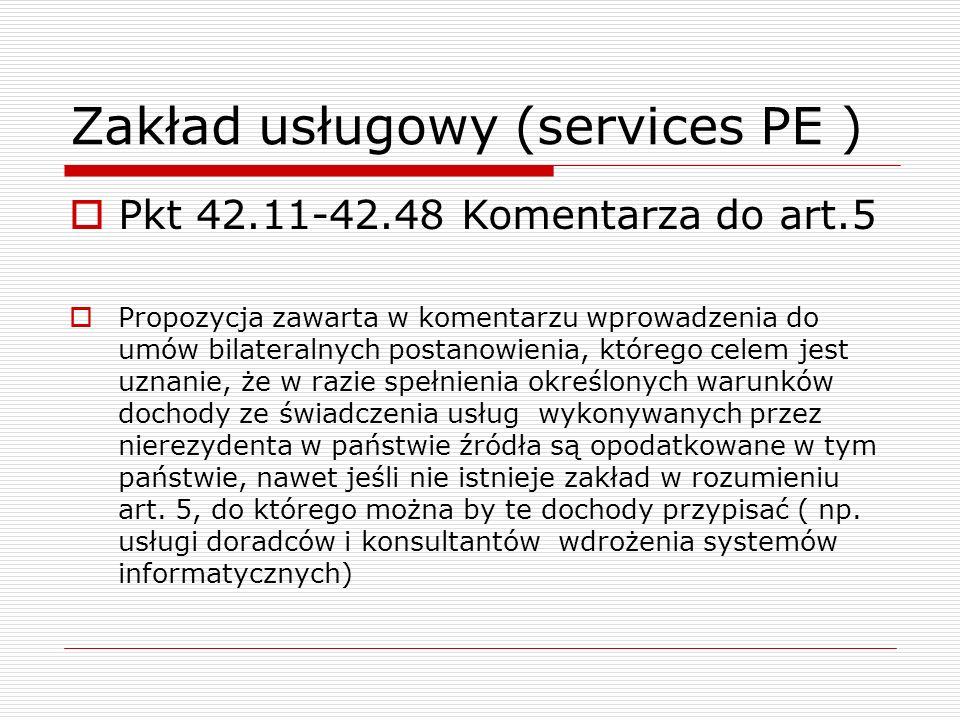 Zakład usługowy (services PE )