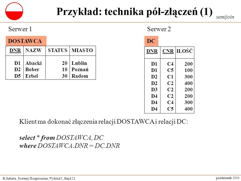 Przykład: technika pół-złączeń (1)