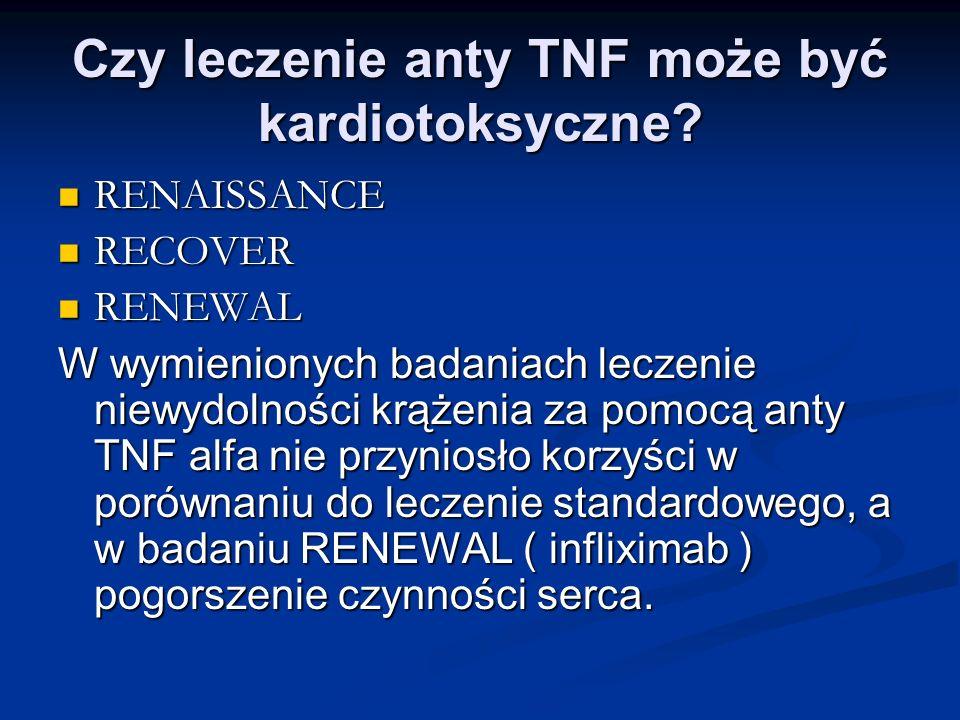 Czy leczenie anty TNF może być kardiotoksyczne