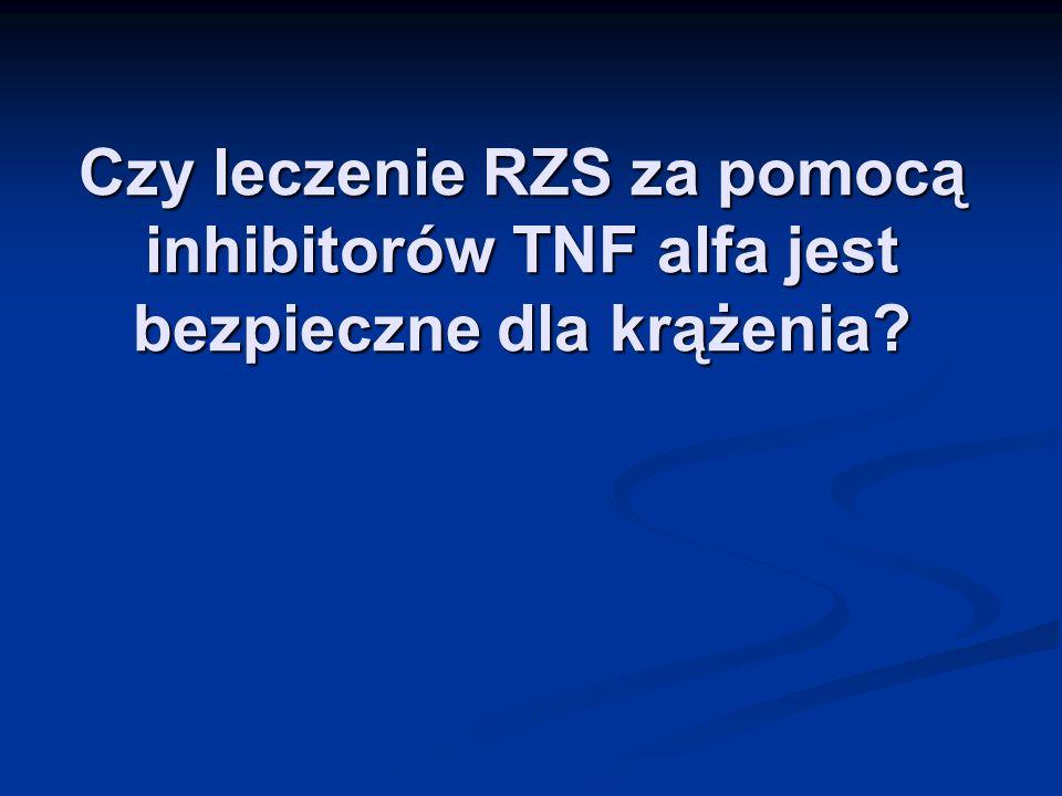 Czy leczenie RZS za pomocą inhibitorów TNF alfa jest bezpieczne dla krążenia