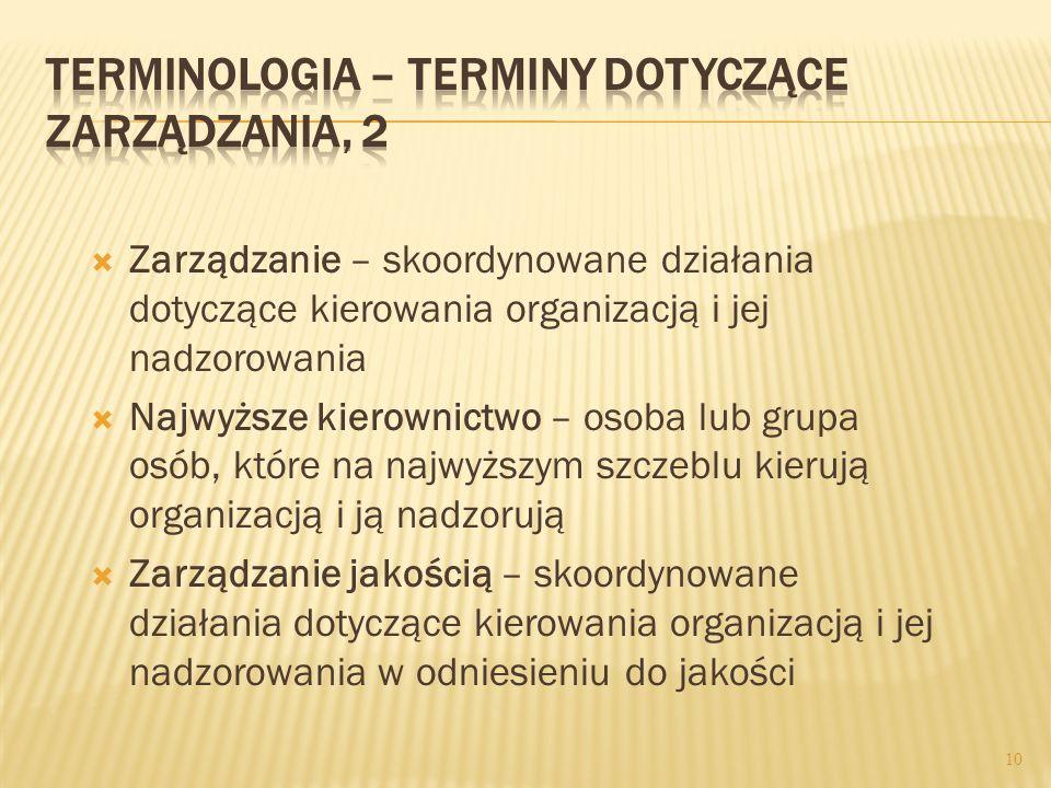 Terminologia – terminy dotyczące zarządzania, 2