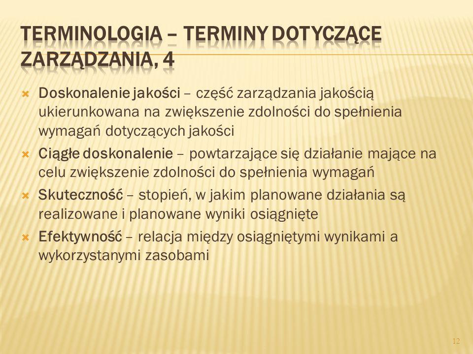 Terminologia – terminy dotyczące zarządzania, 4
