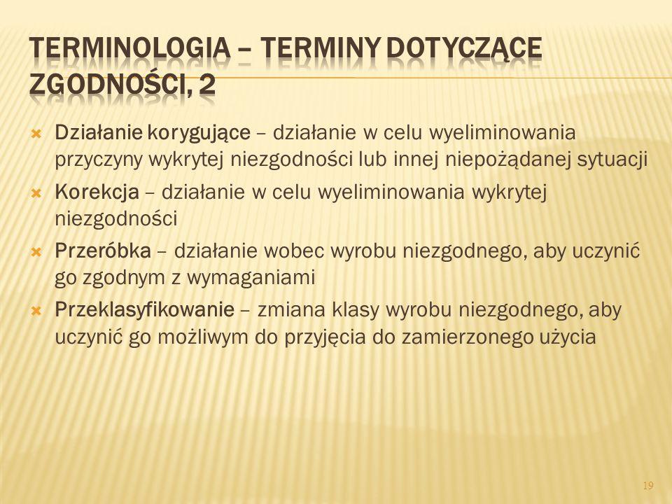 Terminologia – terminy dotyczące zgodności, 2
