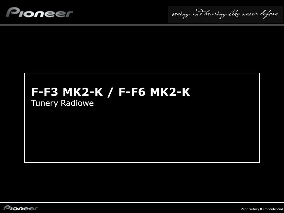 F-F3 MK2-K / F-F6 MK2-K Tunery Radiowe