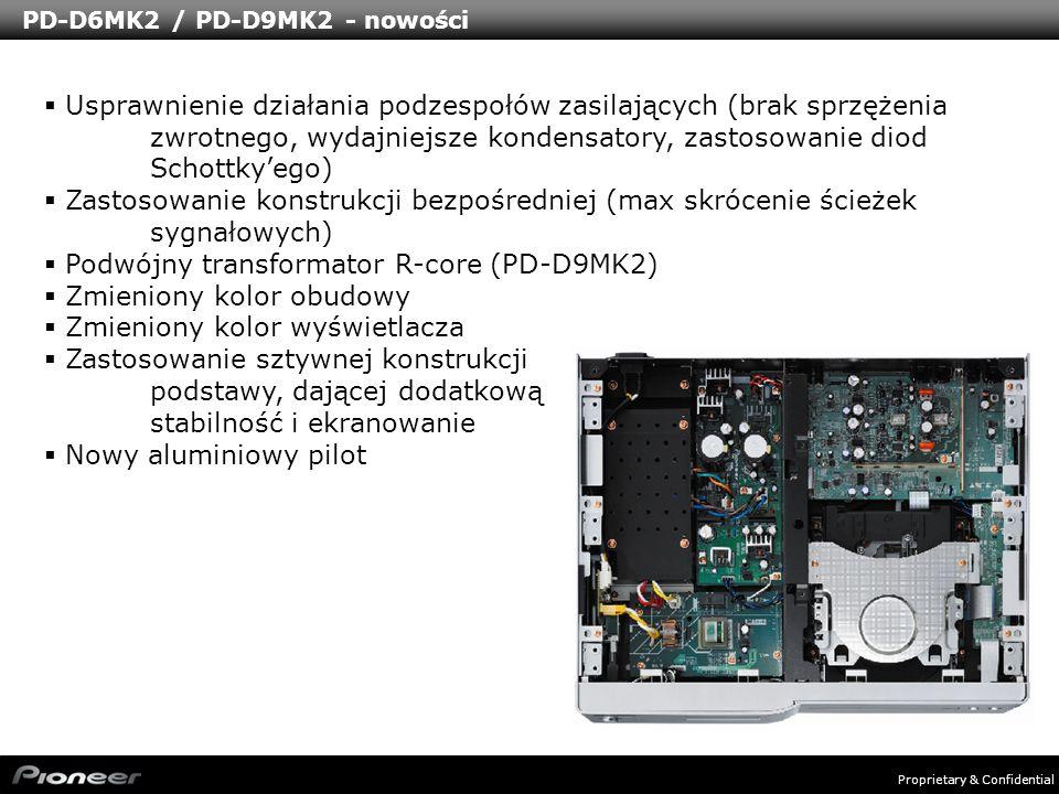 PD-D6MK2 / PD-D9MK2 - nowości